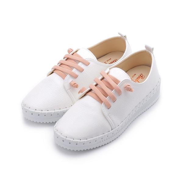 BABYLON 鬆緊縫線厚底休閒鞋 白 女鞋 鞋全家福