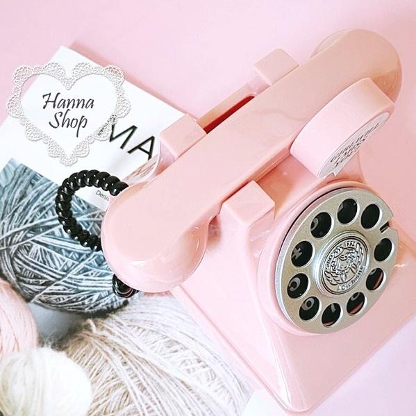 《花花創意会社》外流。網美款復古粉可愛電話存錢筒【H6660】
