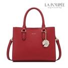 手提包 經典荔枝紋小雛菊掛飾方包 2色-La Poupee樂芙比質感包飾 (預購+好禮)