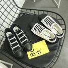 帆布鞋 原宿風小白鞋女百搭女學生懶人鞋板鞋「交換禮物」