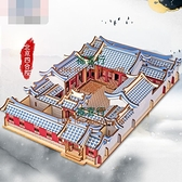 模型南湖紅船國風大型建筑3diy立體拼圖兒童益智成年玩具【福喜行】