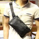 男士腰包背包斜跨小包休閒包斜背韓版單肩男包胸包手機小包  9號潮人館