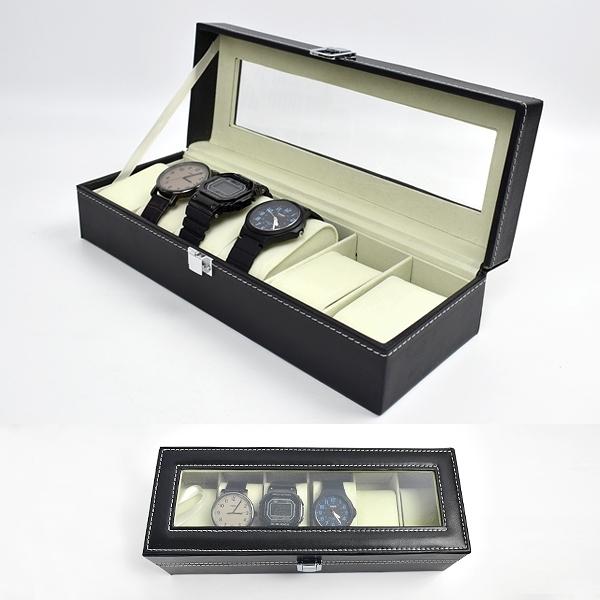 手錶盒 質感皮革收納盒(6支裝)【NAWA24】