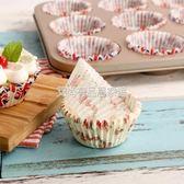 甜品盒 油紙托 雪媚娘托盒子CUPCAKE杯子蛋糕紙杯 蛋糕杯125只 烘焙用紙ღ夏茉生活