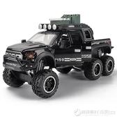 大號仿真猛禽大輪越野車合金車模 兒童玩具車避震回力車汽車模型 圖拉斯3C百貨