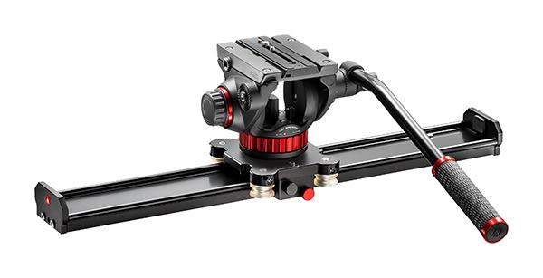 曼富圖 Manfrotto MVS100AMVH502AH 攝影腳架專用滑軌 100cm + MVH502AH 雲台套組【公司貨】