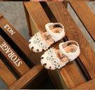 女童涼鞋嬰兒包頭軟底花朵公主周歲學步防滑...