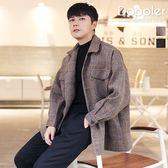 短版大衣 韓系細格紋短版毛呢英倫風外套 【TJW34】 現貨+預購