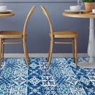 衛生間防水地板貼紙自粘墻貼地面裝飾花磚貼耐磨防滑【時尚大衣櫥】