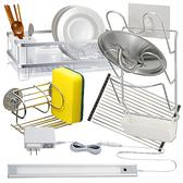 廚房收納組 黃光層板燈款 微裝潢 搭配組合