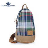【COLORSMITH】LPC・單肩後背包-經典綠格紋・LPC1326-CH