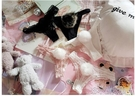 T字褲 日系可愛性感火辣兔毛球兔尾巴純棉蕾絲丁字褲少女低腰內褲胖次T 洛小仙女鞋