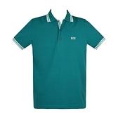 【南紡購物中心】HUGO BOSS 經典標誌配色男款POLO衫-孔雀綠