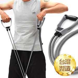 2條阻力彈力繩雙管拉力繩.台灣製造.拉力器.拉力帶彈力帶瑜珈帶伸展帶運動健身器材推薦TRX-1