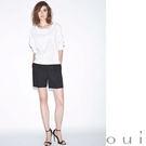 德國進口品牌-oui 西裝布料寬黑短褲(...