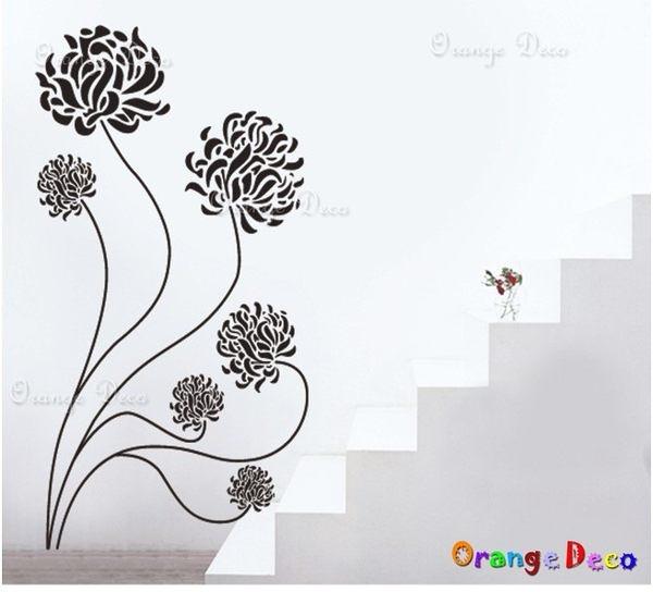 壁貼【橘果設計】玫瑰花 DIY組合壁貼/牆貼/壁紙/客廳臥室浴室幼稚園室內設計裝潢