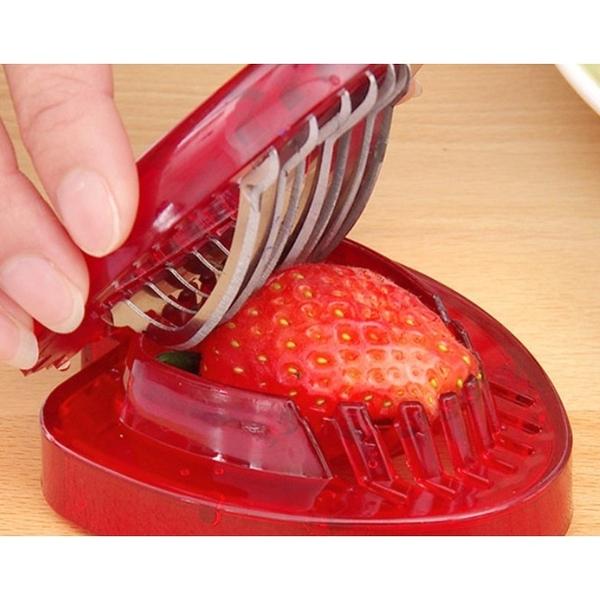 【培菓幸福寵物專營店】廚房神器 不銹鋼草莓切 水果切片器 草莓切片器