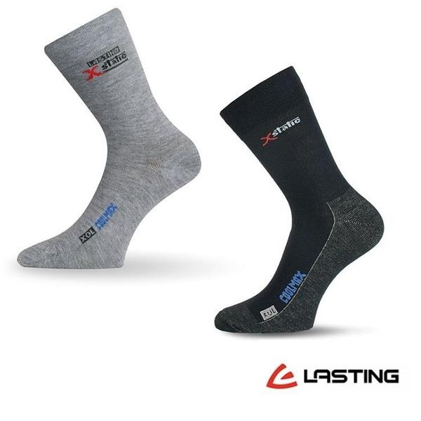 丹大戶外用品【LASTING】X-Static中筒襪 /透氣/抗菌/除臭/銀纖維 LT-XOL 黑、淺灰