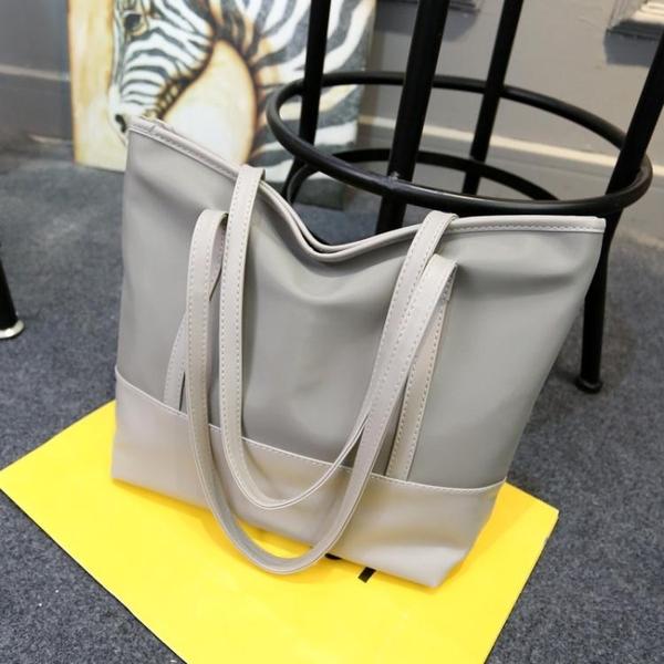 新款帆布女包韓版簡約防水牛津布托特包休閒側背包手提大包包