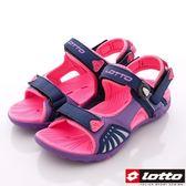 【LOTTO】排水磁扣涼鞋款-3177紫(女段)(22cm-25cm)