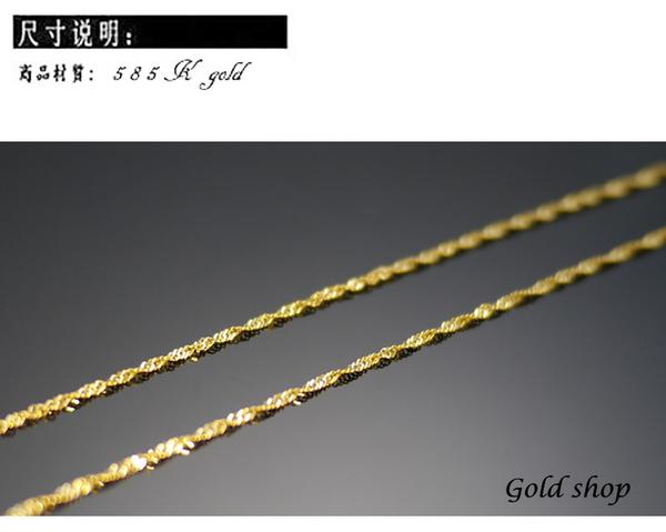 gold 義大利 585 項鍊 長45公分 [ kn 002 ]