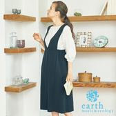 ❖ Hot item ❖ 【SET ITEM】V領吊帶洋裝+落肩蓬袖上衣 - earth music&ecology