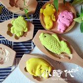 木質卡通豬模具綠豆糕點南瓜月餅干花樣饅頭壓花家用兒童烘焙工具