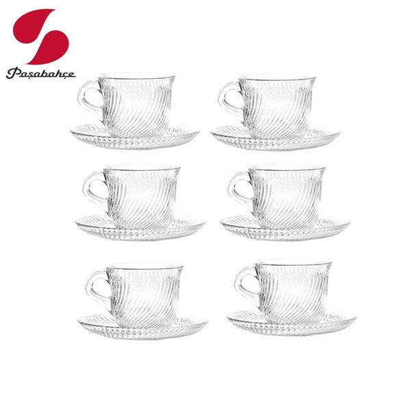 Pasabahce Marmara紅茶杯盤180ml 咖啡杯盤 (盒裝六入)
