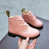 618大促 童鞋女童靴子2019秋冬季新款公主馬丁靴小女孩短靴加絨兒童雪地靴