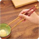♚MY COLOR♚環保印花木質筷子古早味  廚房 餐桌  無油漆 無蠟   櫻花 多色 環保筷 隨機出貨【H06】