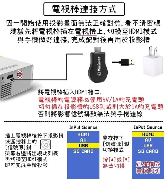現貨 免運 YG300便攜迷你投影機+HDMI套組 投影器 投屏器 HDMI 看戲神器 微型投影器 攜帶型