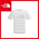 【The North Face 男 LOGO T恤《白/暈灰》】CS90/休閒/亞版