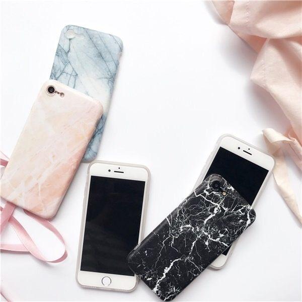 iPhone手機殼 可掛繩 韓國冷淡性大理石 磨砂矽膠軟殼 蘋果iPhone7/iPhone6手機殼