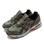 Asics Tiger 休閒鞋 Gel-1090 男鞋 綠 橘 復古 運動 老爹鞋 AT【ACS】 1021A385300
