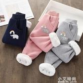 女童褲子2020新款韓版兒童冬裝加絨加厚休閒褲寶寶外穿保暖長褲潮 小艾時尚