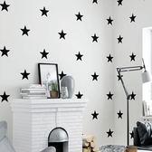 壁紙 北歐風格墻紙 ins現代簡約幾何五角星客廳臥室電視背景墻星星壁紙 曼慕衣櫃