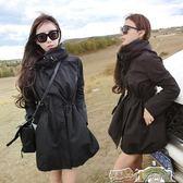 中長款連帽風衣女修身春秋季chic外套學生薄款潮 都市時尚