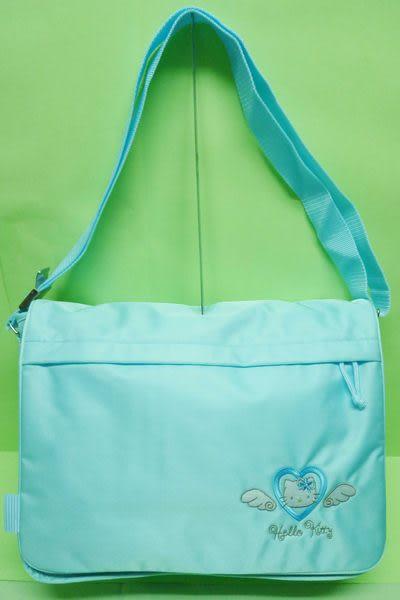 【震撼精品百貨】Hello Kitty 凱蒂貓~大容量斜背包書包『藍天使』