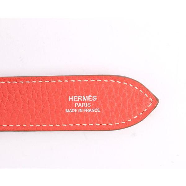 【HERMES】雙色TC皮 吉普賽 JYPSIERE 28cm側背 (牡丹粉) HE11000058