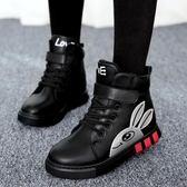 女童靴子秋冬款短靴新款冬季大童加絨棉鞋雪地馬丁兒童鞋 全館免運