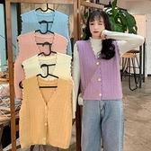 針織外套 針織馬夾女秋季2021新款日系外穿寬鬆背心馬甲開衫毛衣外套潮【快速出貨八折搶購】