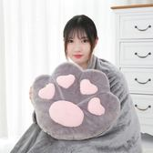 午睡毯 辦公室午睡枕珊瑚絨毯子抱枕被子兩用二合一汽車靠墊靠枕空調被【美物居家館】