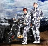 雨衣 迷彩雨衣雨褲套裝成人徒步分體摩托車男女騎行加厚防水全身雨衣-凡屋