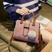 包包女韓版百搭大氣手提包時尚大容量單肩斜背包 黛尼時尚精品