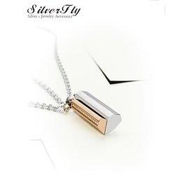 《SilverFly銀火蟲銀飾》【MIGO 2015 Stand by Me】愛的結晶白鋼對鍊