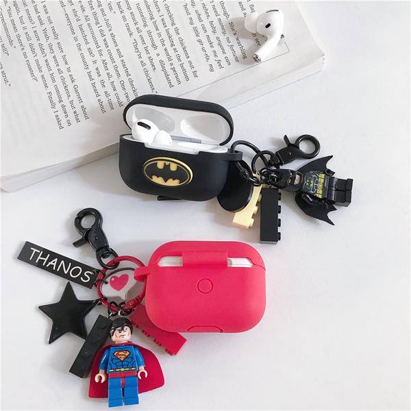 🍎 Airpods Pro 專用 1/2代 🇹🇼台灣發貨 [ 超人+蝙蝠俠積木 ] 藍芽耳機保護套 蘋果無線耳機保護