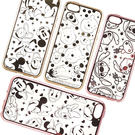 【Disney 】Apple I phone 5/5s/SE 時尚質感電鍍系列彩繪保護套-亂花系列