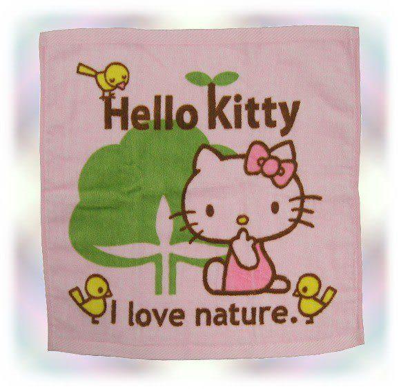 【波克貓哈日網】授權卡通小方巾  ◇Hello kitty 凱蒂貓◇《34 x 35cm》