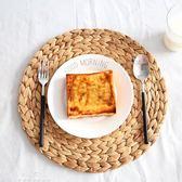 草編圓形歐式餐墊隔熱墊碗墊杯墊盤墊鍋墊田園編織餐桌墊子『夢娜麗莎精品館』