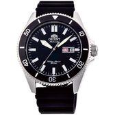 【台南 時代鐘錶 ORIENT】東方錶 RA-AA0010B MAKO XL系列兩百米潛水機械錶 橡膠帶 黑圈 44mm